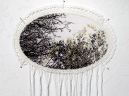 Dialogue With a Dream 02, 2009, Photography, Cotton, Crochet, Embroidery, Metallic Threads, 70 x 44 cm