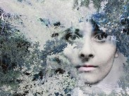I Fell Into a Dream, 2012, Photographic montage, embroidery detail, 66.5 x 90 cms, Edition of 5