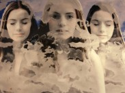 TheTrinity (Breathing Clouds), 2012, Photographic montage, embroidery detail, 51 x 74 cms, Edition of 5