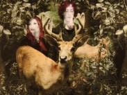Two Dreamers, One Dream, 2012, Photographic montage, embroidery detail, 38.6 x 48 cms, Edition of 5