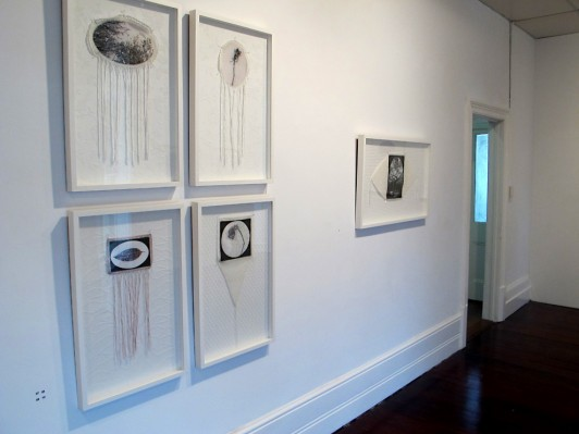 The works combine photography with embroidery and crochet - yes at the same time!  The results are works that evoke day dreaming, recollection and hint at a disturbing undertone.