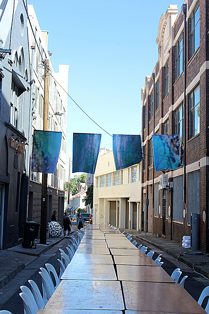 Patricia Casey, Breathe, Installed at Beams Festival Chippendale