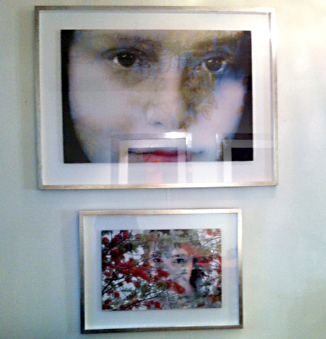 Photography montage, embroidery